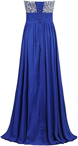 Fourmis Robes De Bal En Mousseline De Soie De Cristal Formel Longues Robes De Soirée Bleu Sarcelle