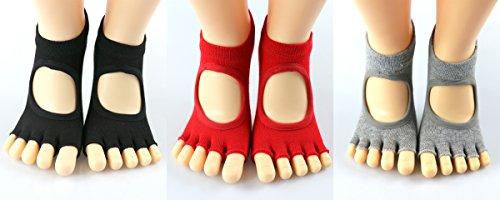 Yoga Socks and Gloves – Non Slip Skid Toeless Socks for Pilates, Ballet, Studio, Workout with Non Slip Gloves (3 pairs socks and 1 pair gloves or only 3 pairs socks) – DiZiSports Store