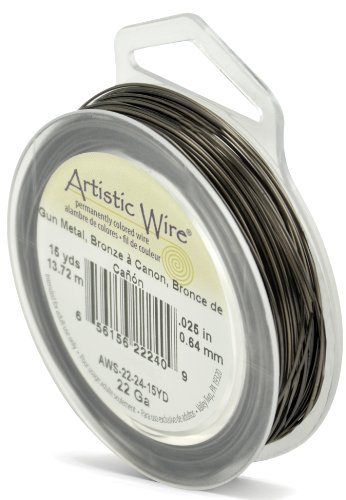 Artistic Wire 22-Gauge Antique Brass, 15-Yards