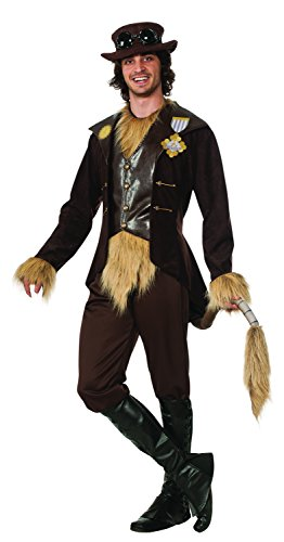 Lion From The Wizard Of Oz Costumes (Rubie's Costume Men's Wizard Of Oz 75Th Anniversary Adult Steampunk Cowardly Lion, Brown, Standard)
