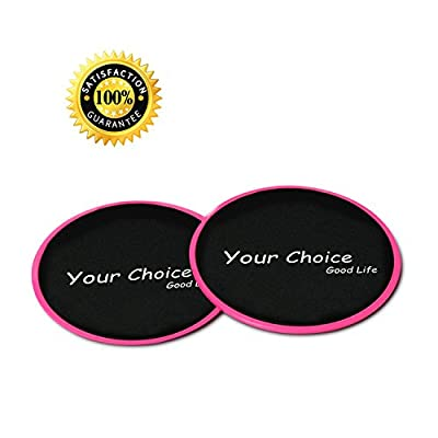 Your Choice Sliders Fitness Exercise Core Gliders Gliding Discs Fitness Equipment for Full Body Workout Compact for Travel or Home, Color Pink Set of 2
