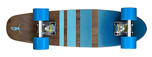 Ridge Cruiser Maple Holz Mini Number Three Skateboard, Blue, MPB-22-NR3