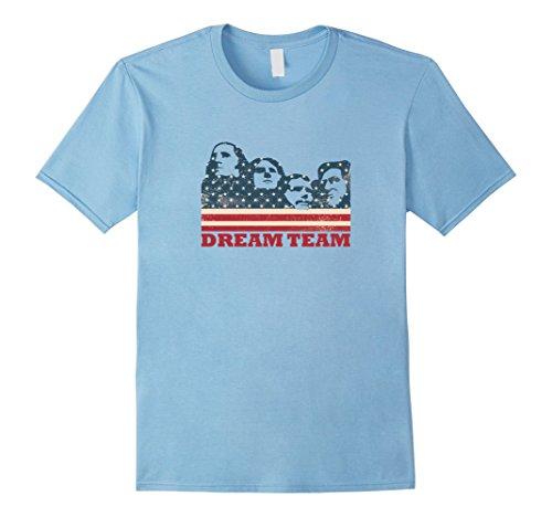 Mens Mount Rushmore Dream Team T-shirt Large Baby Blue