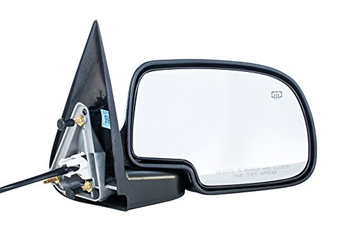 Right Passenger Side Door Mirror Cadillac Escalade Chevy Avalanche Silverado Suburban HD Tahoe GMC Sierra Yukon XL 1500 2500 3500 (2003 2004 2005 2006 2007) Textured Heated Folding Outside Rear View