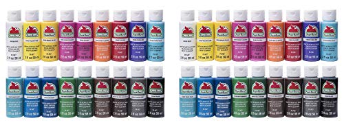 Acrylic Paint Set, 18 Piece (2-Ounce),  Assorted Colors I (Twо Расk) - Apple Barrel PROMOABI