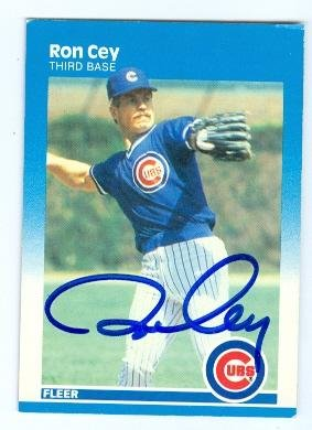 Ron Cey autographed Baseball Card (Chicago Cubs) 1987 Fleer No.556