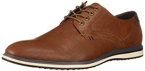 Unlisted by Kenneth Cole Men's Gifford Lace Up Oxford Cognac 12 M US