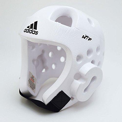 adidas Deluxe Head Gear (White, Medium)