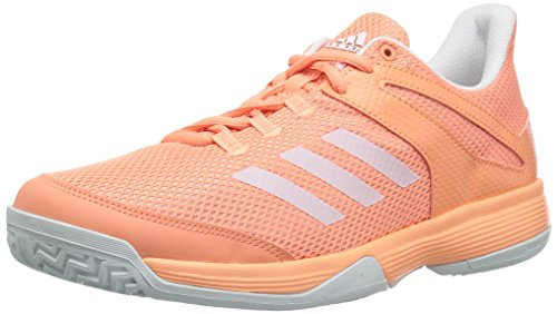 adidas Originals Girls' Adizero Club K, Chalk Coral/White/Blue Tint, 5 M US Big Kid - Athletic Club