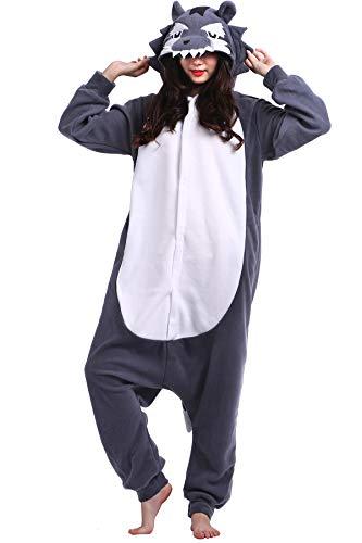 Pajamas Onesie Adult Big Wolf Cartoon Animal Cosplay