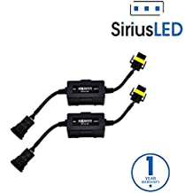 SiriusLED Canbus Decoder Error Canceller Anti Flickering Wire Harness for LED Headlights Size H11 H8 H9 Pack of 2