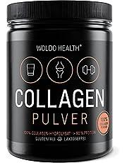 WoldoHealth collageen 100% eiwitten zuiver hydrolysat, collageen poeder, 500 g, smaakneutraal, licht oplosbaar op basis van rund-