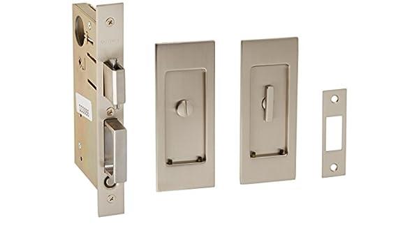 Baldwin PD006. PRIV Santa Monica privacidad bolsillo puerta Set con puerta Tire de la,: Amazon.es: Bricolaje y herramientas