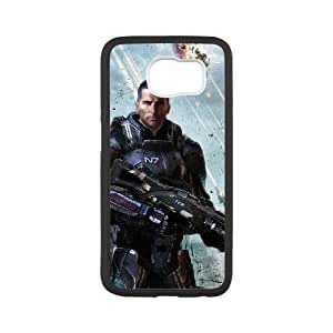 Mass Effect Samsung Galaxy S6 Cell Phone Case Black xlb-290577