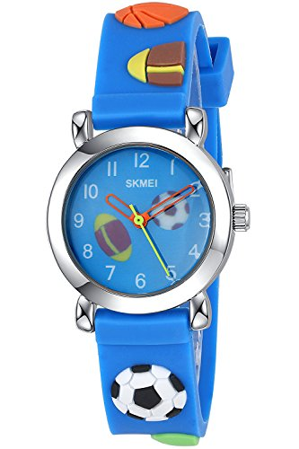 INWET Kids Time Teacher Watch - The Colors of Childhood - Blue Watch with 3D Creative Strap, Soft and Light