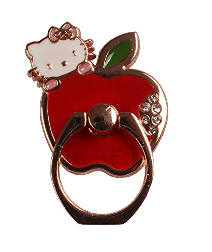 Phone Ring - Hello Kitty Cat Love Apple Round Phone Stand Universal (Rose Gold)