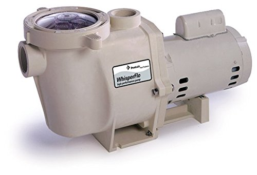 Pentair 011772 WhisperFlo High Performance Standard Efficiency Single Speed Up Rated Pool Pump, 1 Horsepower, 115/230 Volt, 1 Phase by Pentair