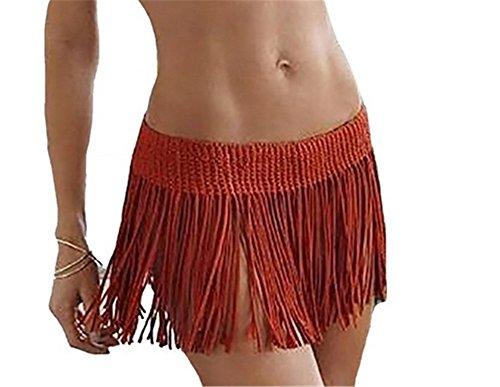 Costume YARBAR Donne Vino Bikini Coprire Uncinetto Beachwear Estate Frangia Corta Gonna Ragazze Da Bagno wfYfRqrHFx