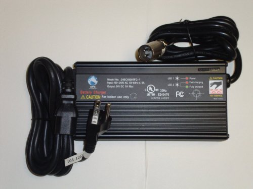 24V 5A Gel Sealed Lead Acid Battery Charger 3-Stage Fan-Cooled by Universal Power Group