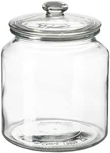 برطمان مع غطاء, زجاج شفاف1.9 لتر