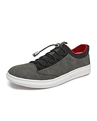 Marc Loire Men Casual Lace-Up Shoes, Faux Leather Sneakers for Men's & Boy's - Grey, Size - Euro43_UK/IN9 - ML0075090843
