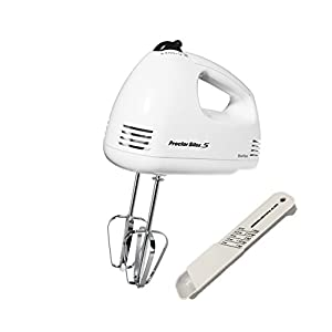 Proctor Silex 5-speed Hand Mixer in White 62509RY with Jenn-Air Adjustable Measuring Spoon