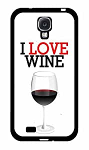 I Love Wine- TPU RUBBER SILICONE Phone Case Back Cover Samsung Galaxy S4 I9500