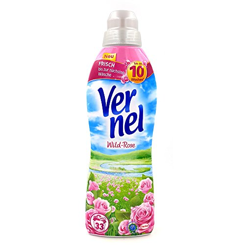 Vernel Wild Rose Liquid Fabric Softener with natural rose essences, 33 loads, 33.8 Fluid Ounce