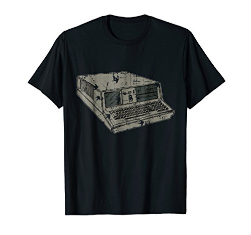 - Distressed Retro Vintage Computer terminal graphic Tee Shirt