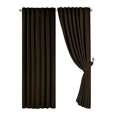 Solid Back Tab Thermal Insulated Blackout Window Curtain Panel (52