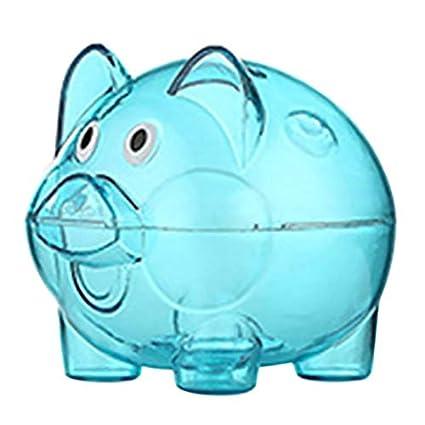 aa413125c Box Coin - Cartoon Pig Money Saving Box Transparent Plastic Case Coins  Piggy Bank 4 Colors