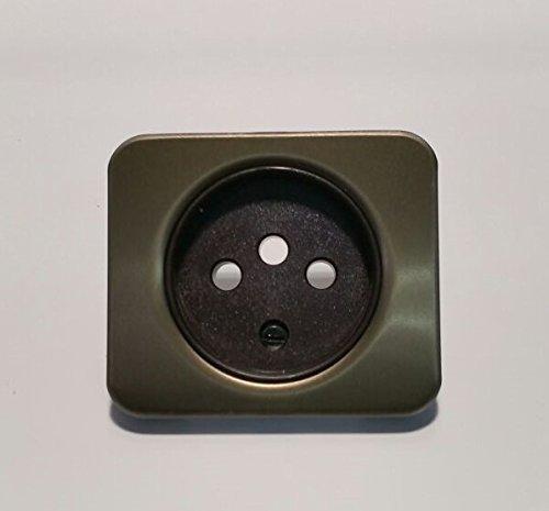 Simon 75042-36 Tapa Enchufe 2P+TT Desplazada Color BRONCE