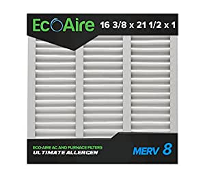 Eco Aire 16 3 8x21 1 2x1 Merv 8 Pleated Air Filter 16 3