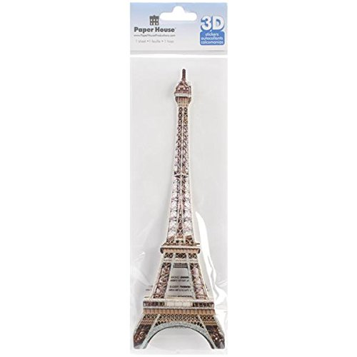Paper House Productions STTL-0002E 3D Cardstock Stickers, Eiffel Tower (3-Pack)