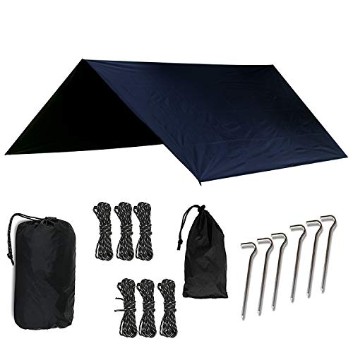 OUTDOOR SKYE 10x10 Rain Fly Hammock Tent Tarp Extreme Waterproof Protection - Large Canopy is Portable Provides Ideal Shelter Your Camping Hammock Tent