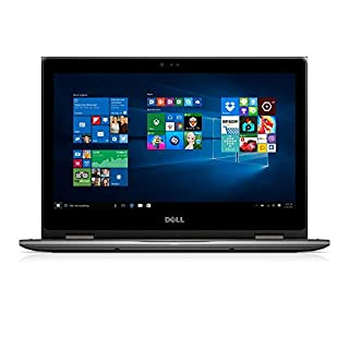 Dell i5368-1692GRY 13.3in FHD 2-in-1 Laptop (Intel Core i3-6100U 2.3GHz Processor, 4 GB RAM, 1 TB HDD, Windows 10) Gray (Renewed)