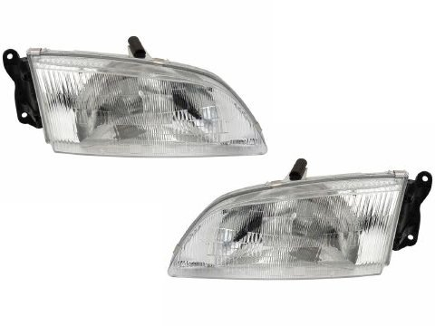 Headlights Depot Replacement for Mazda 626 Headlights OE Style Replacement Headlamps Driver/Passenger Pair New ()