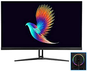 LZSHENG 27 inch 144Hz 4K UHD Flat Panel Screen LCD Display Monitor with Colorful Atmosphere Light