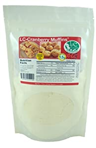 Low Carb Cranberry Muffin Mix - LC Foods - All Natural - No Sugar - Diabetic Friendly - 7.9 oz