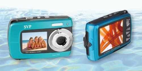 Aqua 5500 Blue 18 Mp Dual Screen Waterproof Digital Camera Music Record Vidio