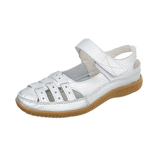 2 para as mujer tacon Plataforma Zapatos Cu 5008 Ital Design de Silber Zapatos 7d50q7