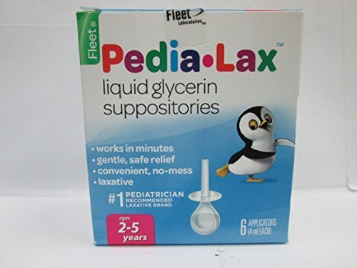 Pedia Lax Liquid - PEDIA-LAX Liquid Glycerin Suppositories-6ct by Pedia-Lax