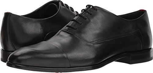 HUGO by Hugo Boss Men's Appeal Leather Lace up Oxford Uniform Dress Shoe, Black, 7 M US