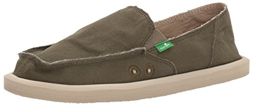Mocassino Donna Donna Sanuk Slip-on Verde Oliva Scuro