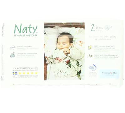 Naty Chlorine-Free ECO Diapers Size 2 (12-18lbs) (Pack of 4)