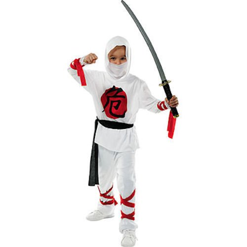 Kids Deluxe Color Blanco Fancy disfraz de ninja disfraz para ...