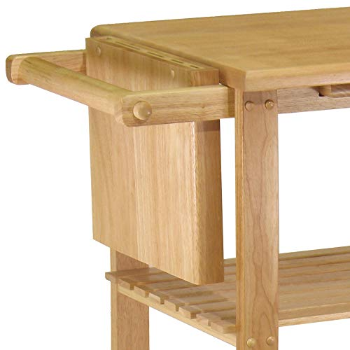 home, kitchen, furniture, kitchen, dining room furniture,  kitchen islands, carts 9 picture Winsome Wood Mario Kitchen, Natural in USA
