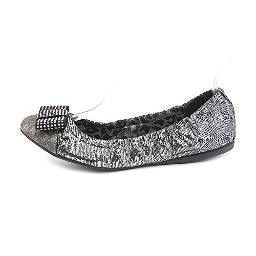 G By Guess Flashy Womens Size 7 Silver Textile Ballet Flats Shoes