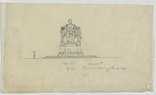 Historic Photos Statue of Abraham Lincoln for the Lincoln Memorial, providing measurements of the plinth