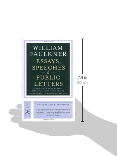 essays speeches public letters william faulkner james b  essays speeches public letters william faulkner james b meriwether 9780812971378 com books